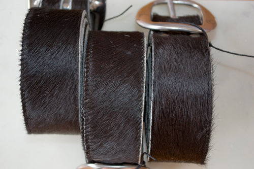 Thick Cowhide Belt ~ Black Range