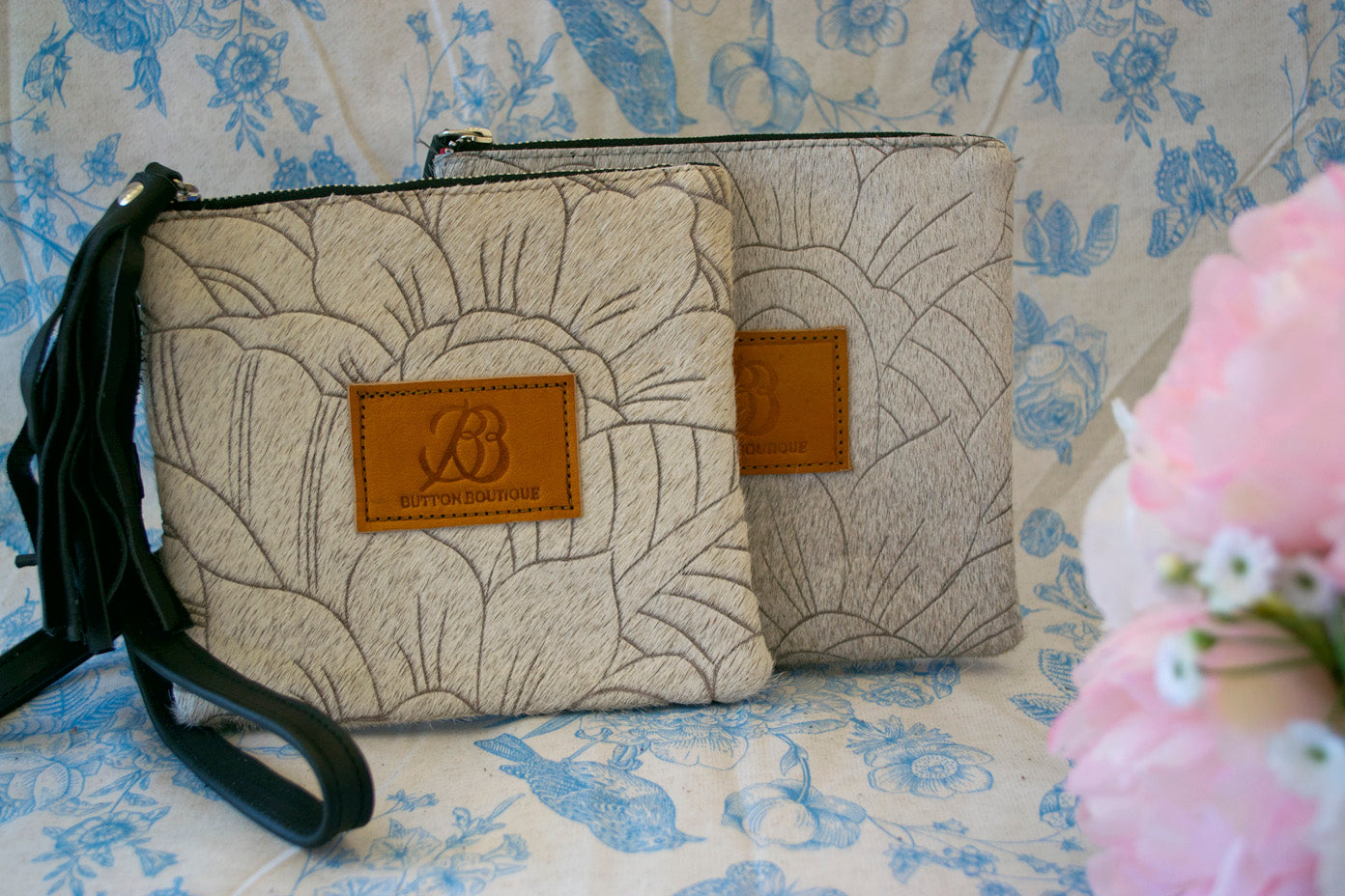Small Carved Clutch - Grey Collection