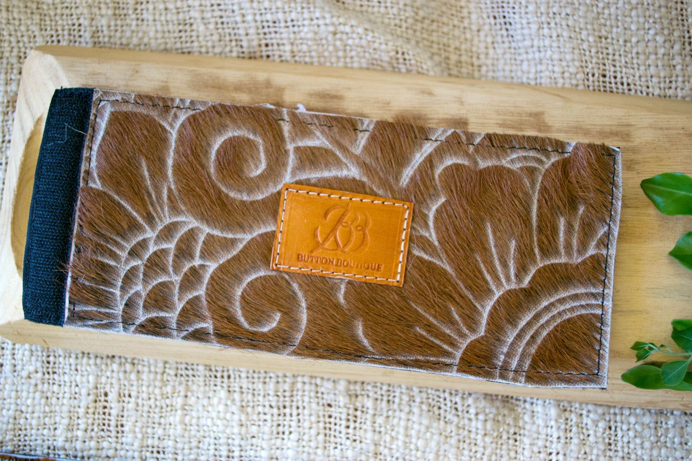 Cowhide Coolers ~ Tan Carved Collection