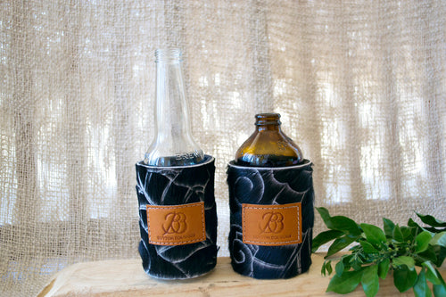 Cowhide Coolers ~ Black Carved Collection