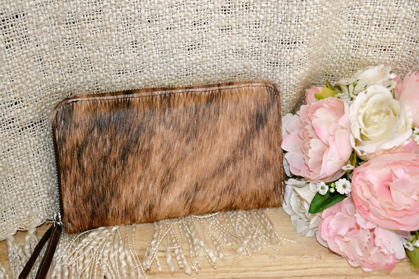 Wallet ~ Double Zip Brown Collection