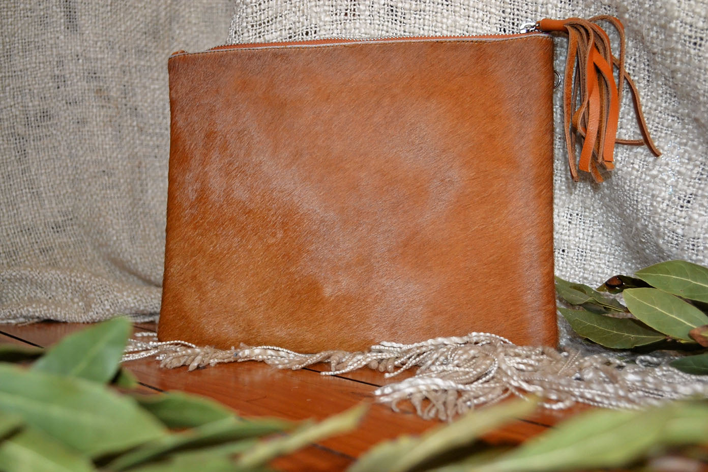 Large Clutch - Tan Collection
