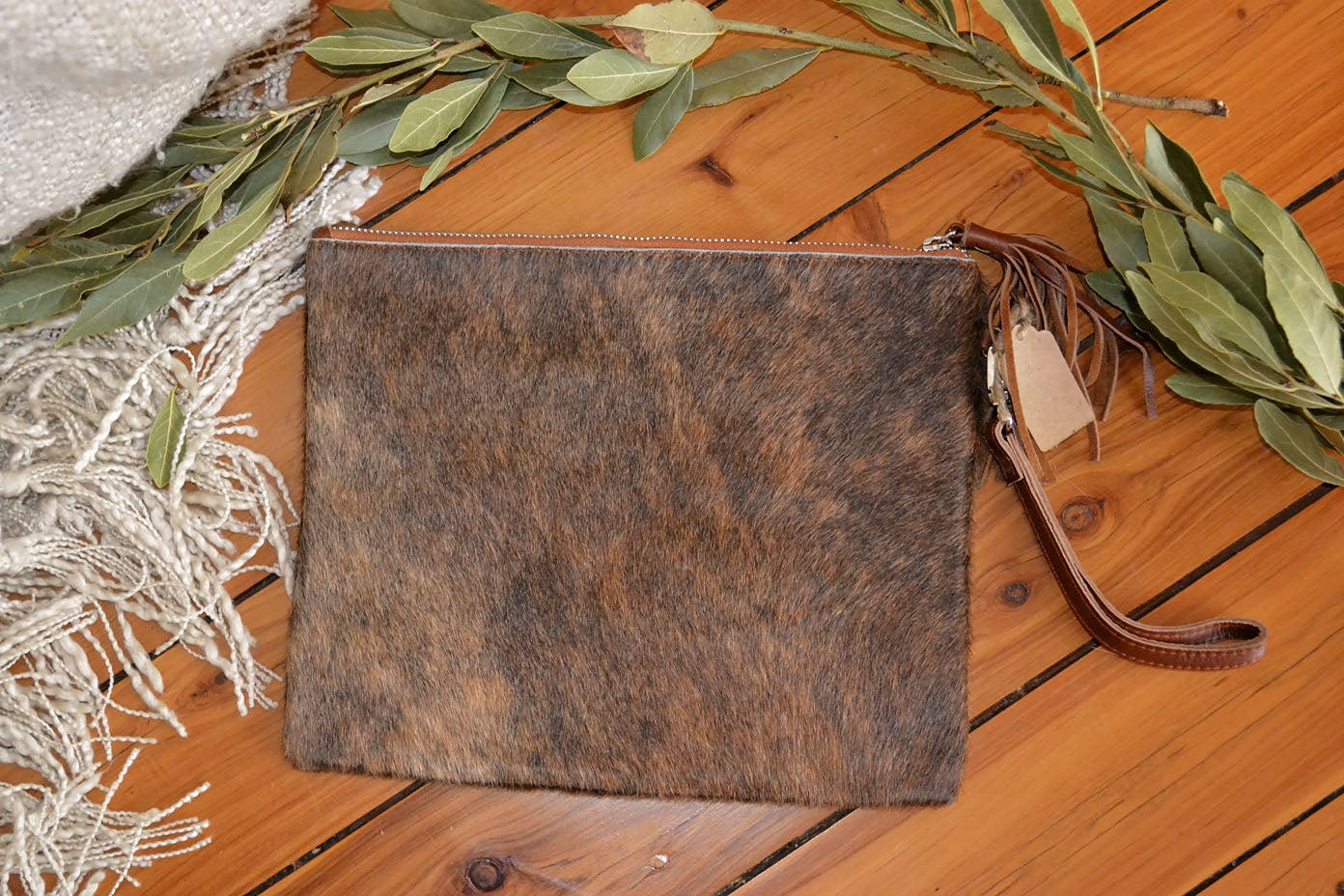 Large Clutch - Brown & Black Collection