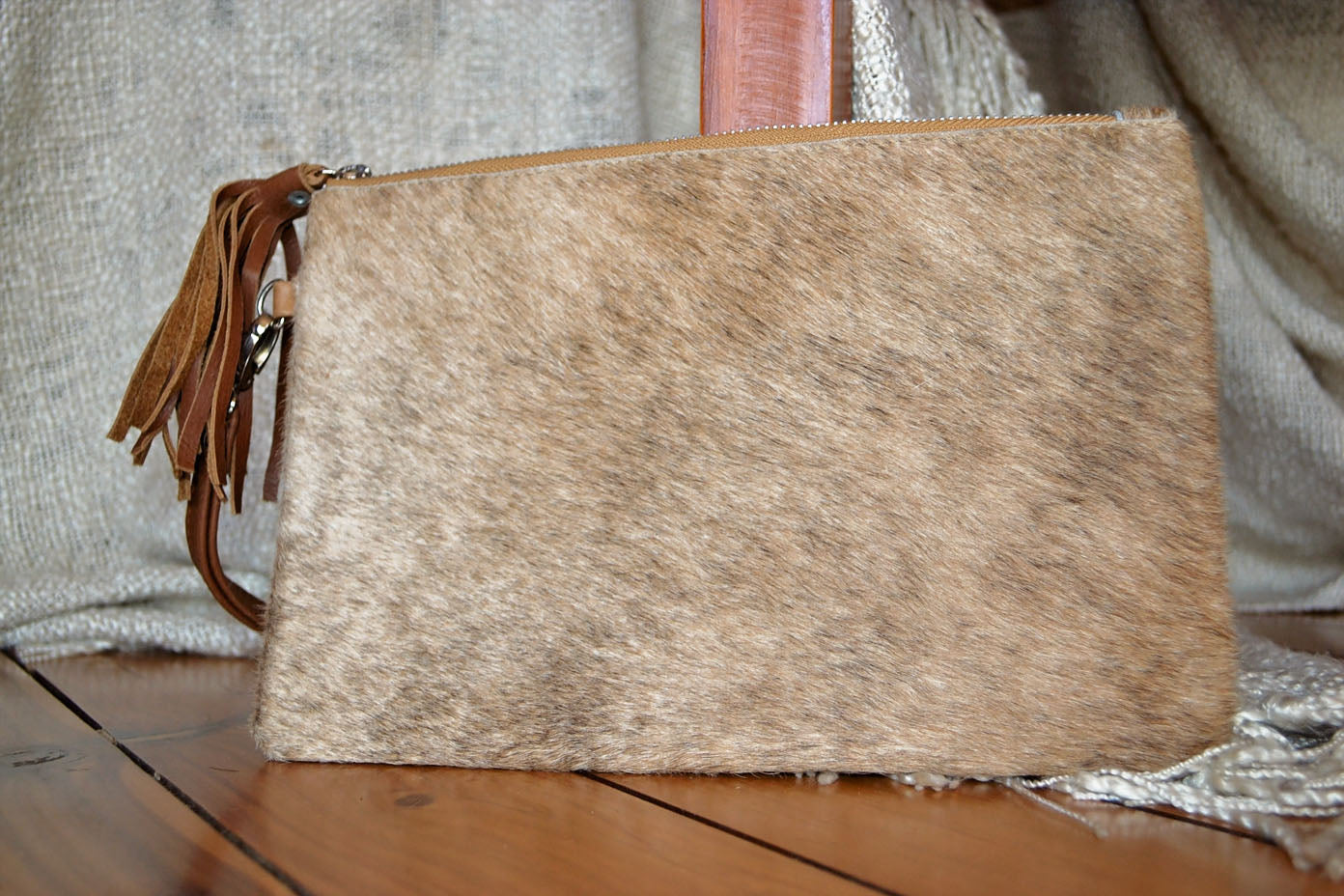 Medium Clutch - Brown Collection