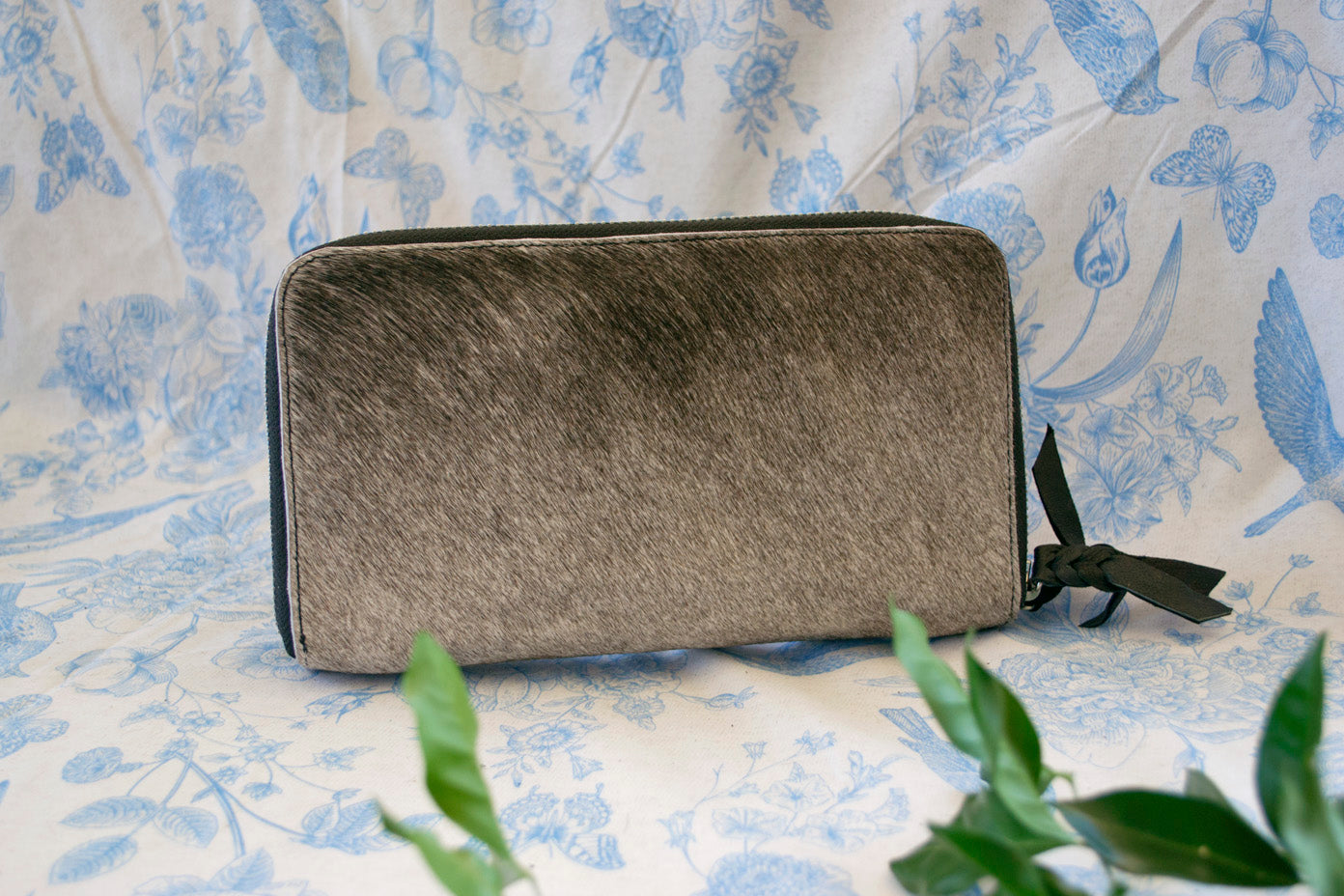 Wallet ~ Double Zip Grey Collection