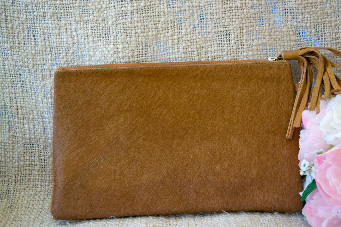 Medium Clutch - Tan Collection