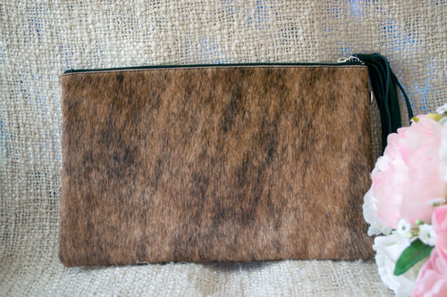 Medium Clutch - Brown & Black Collection