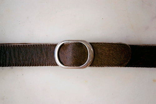 Medium Cowhide Belt ~ Brown Range