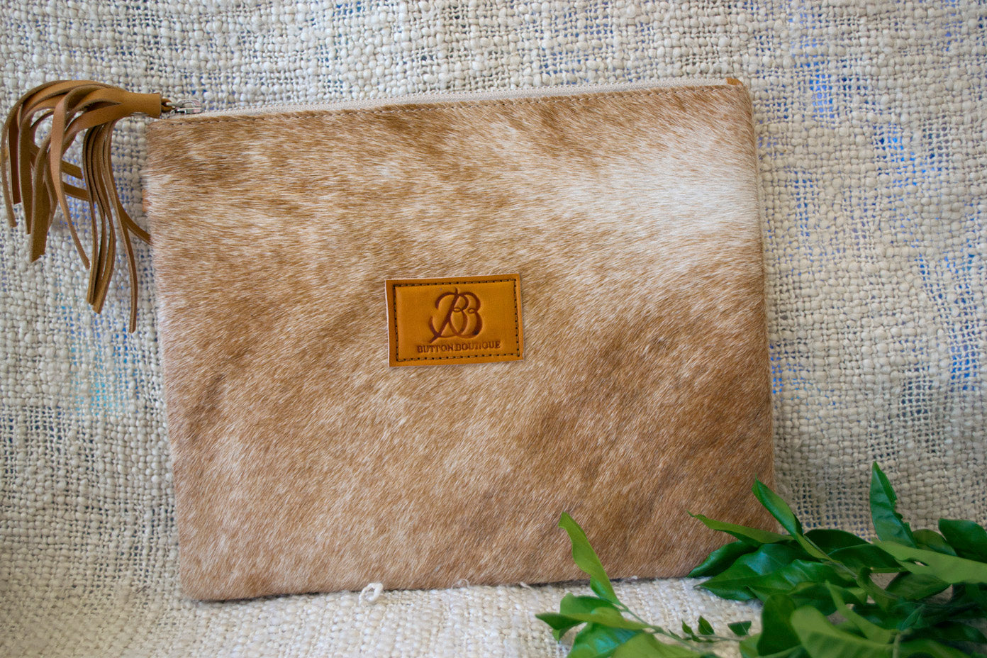 Large Clutch - Cream Collection