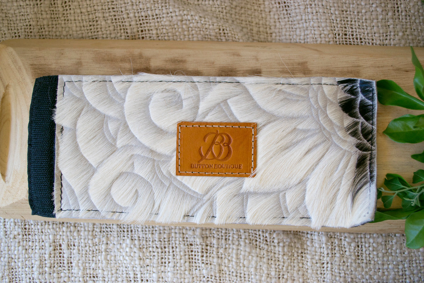 Cowhide Coolers ~ White & Black Carved Collection