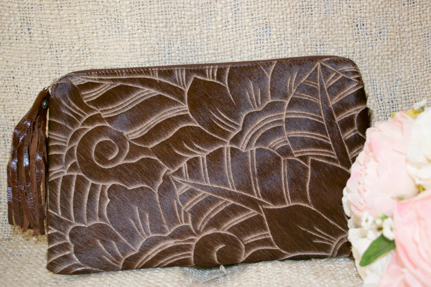 Carved Clutch - Chocolate Collection