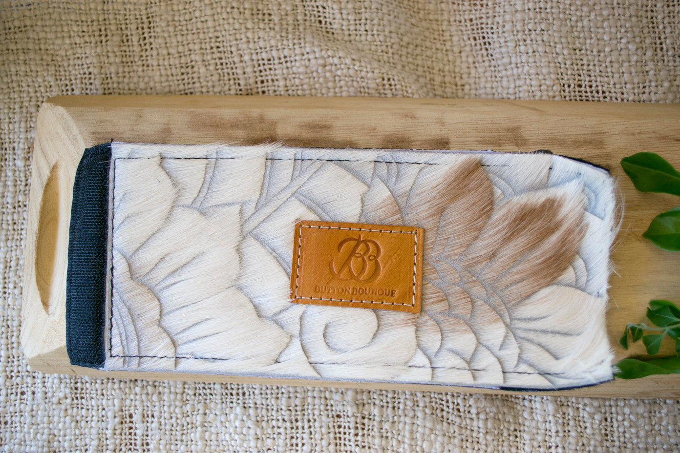 Cowhide Coolers ~ White & Brown Carved Collection