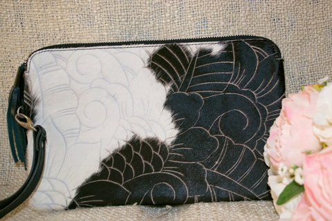 Medium Clutch - Black & White Collection