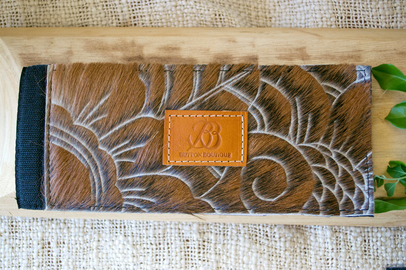 Cowhide Coolers ~ Brown Carved Collection