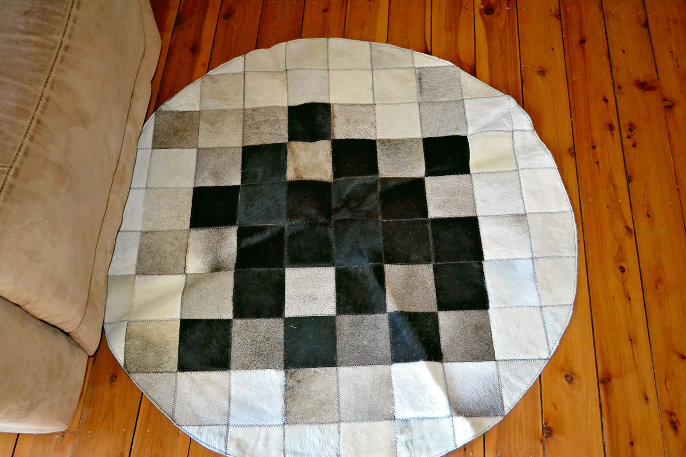 Cowhide Flower Rug #1