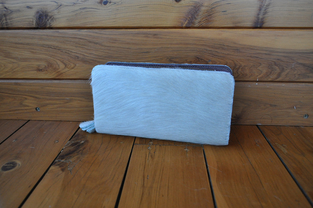 Wallet ~ Double Zip White