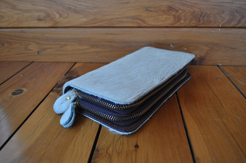 Wallet ~ Single Zip Grey Collection