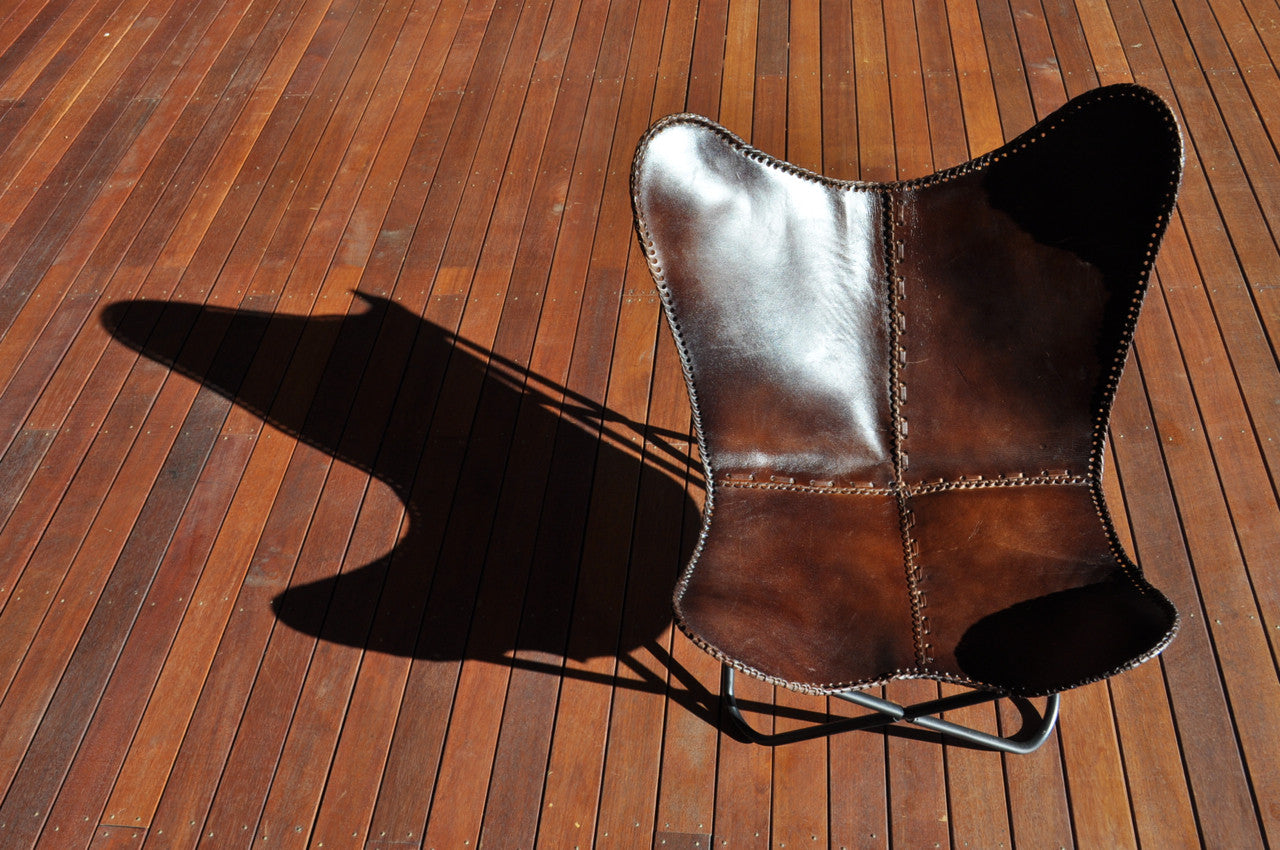 Butterfly Chair - Brown Leather