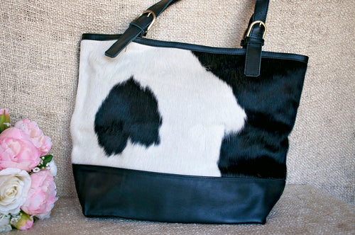 Toolong Tote ~ White & Black Collection
