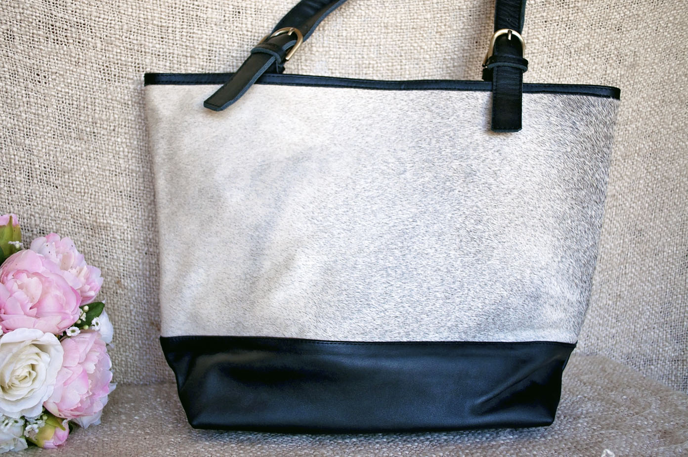 Toolong Tote ~ Salt & Pepper Collection