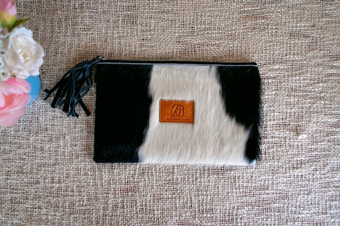 Carved Clutch - Brown & White Collection