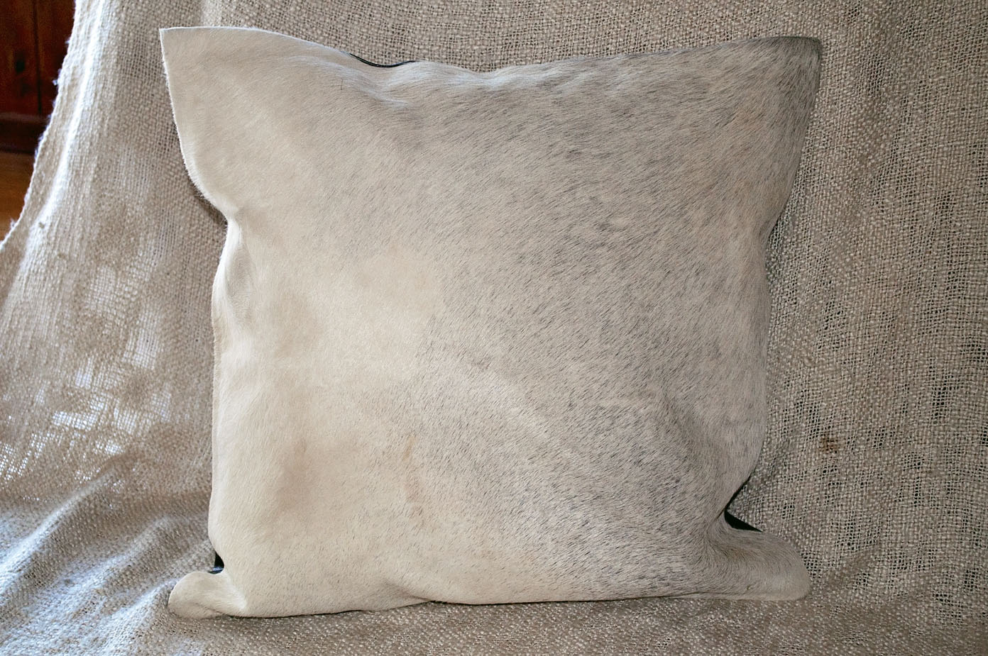 Large Cowhide Cushion ~ Grey
