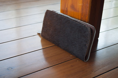 Wallet ~ Single Zip Brown Collection