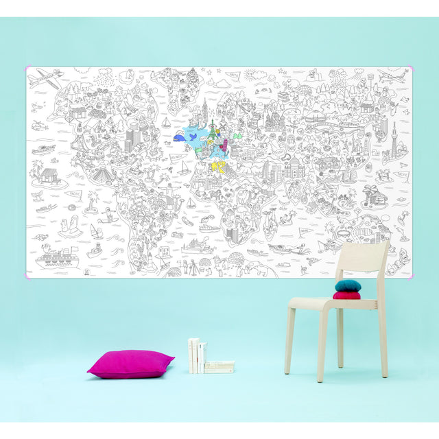 OMY - Giant Coloring Roll - Atlas XXL Poster