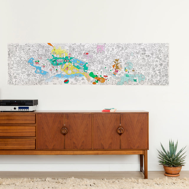 OMY - Giant Coloring Roll - Four Seasons Frieze