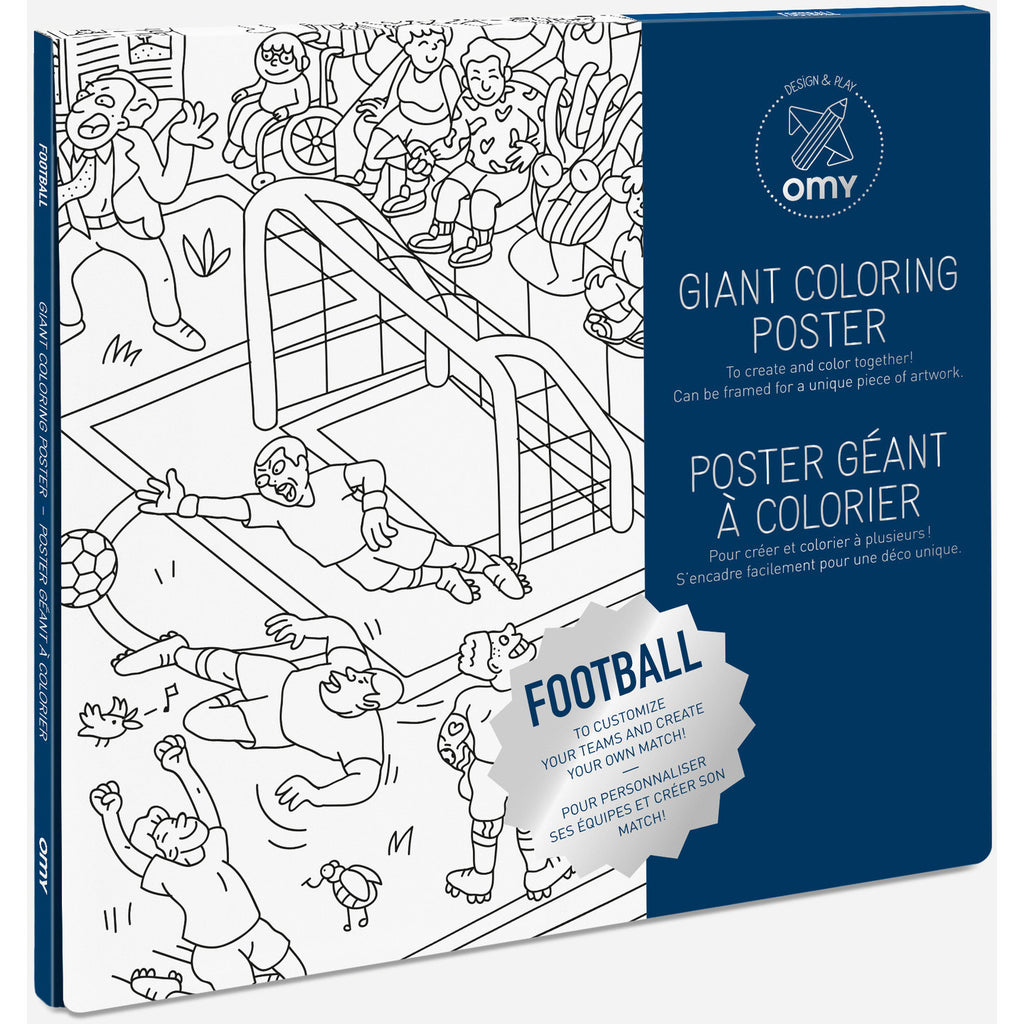 OMY - Football Coloring Poster