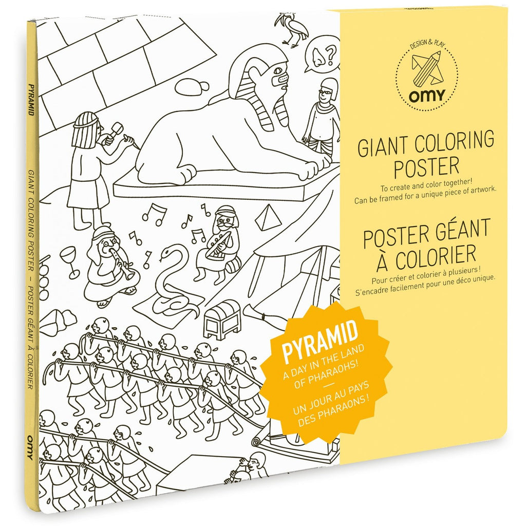 OMY - Pyramids Coloring Poster