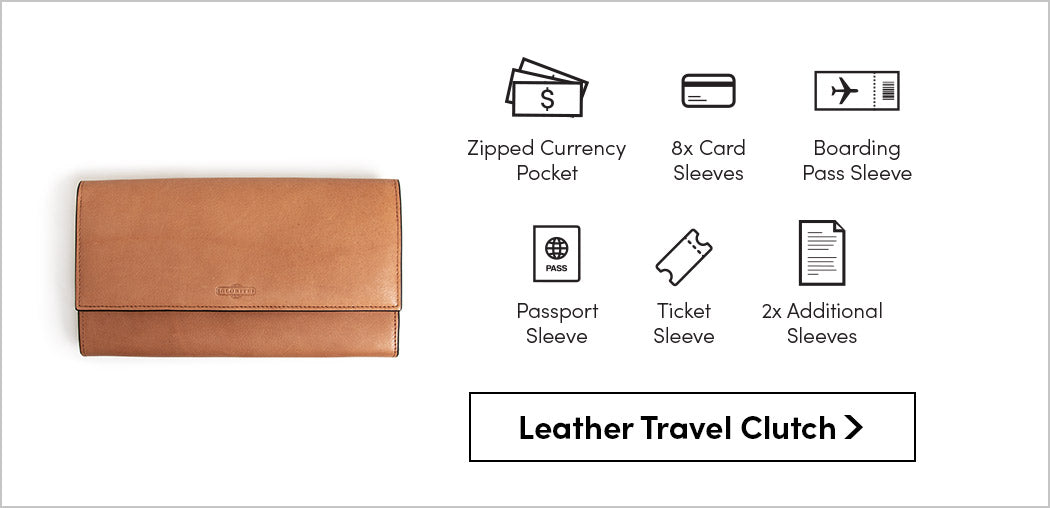 shop by style travel clutch