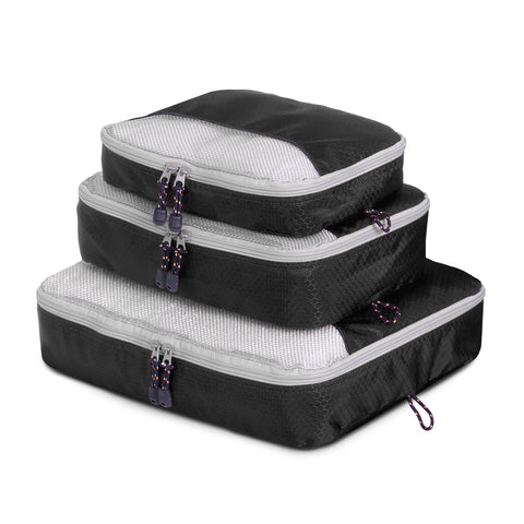 Packing Cube 3 Piece - Black - globitetravel