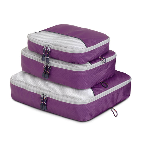 Packing Cube 3 Piece - Purple - globite