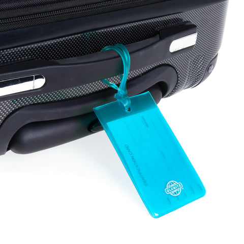 Jelly Luggage Tags 2pk - Blue - globite