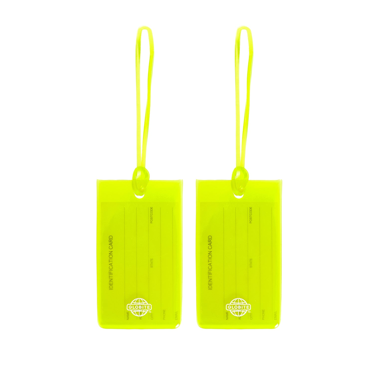 Jelly Luggage Tags 2pk - Green - globitetravel