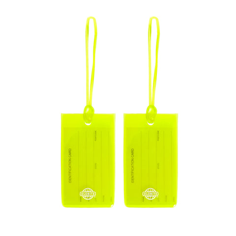 Jelly Luggage Tags 2pk - Green - globite