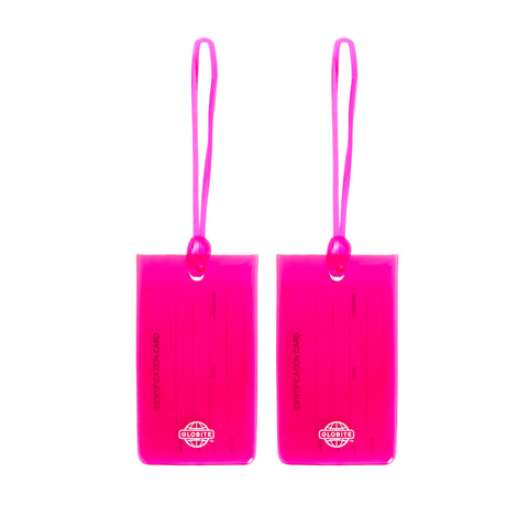 Jelly Luggage Tags 2pk - Pink - globite