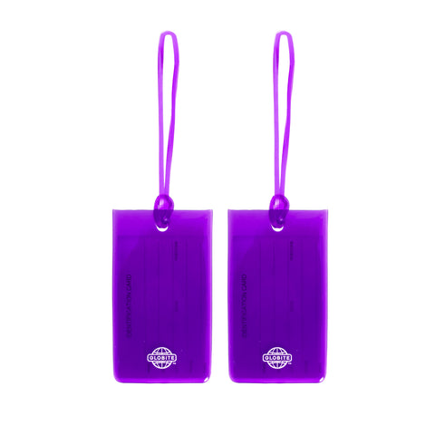 Jelly Luggage Tags 2pk - Purple - globite