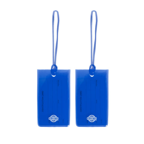 Jelly Luggage Tags 2pk - Royal Blue - globitetravel
