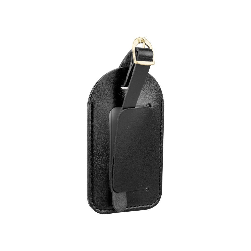 Leather Look Luggage Tags 2pk - Black - globitetravel