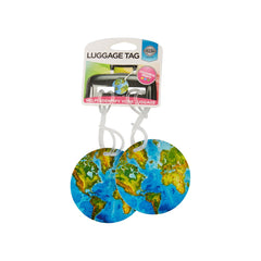 Luggage Tags 2pk -  World - globitetravel