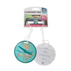Basic Luggage Tag Bon Voyage 2pk - globitetravel