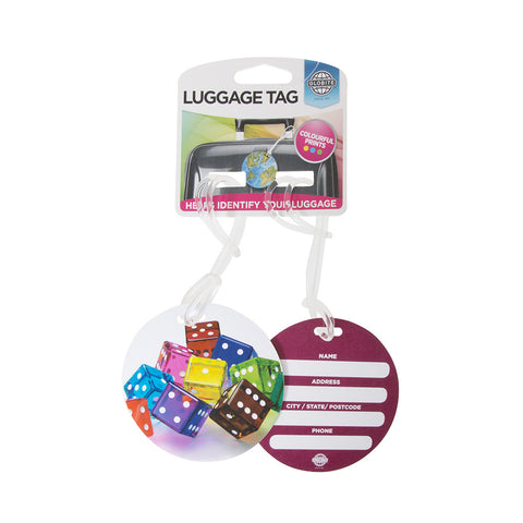 Luggage Tag Dice 2pk - globitetravel