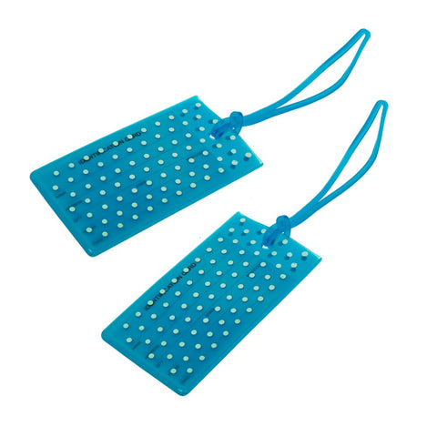 Jelly Luggage Tags Spot 2 pack-Blue - globitetravel