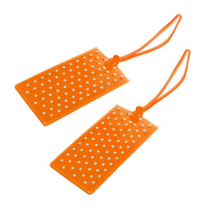 Jelly Luggage Tags Spot 2 Pk-Orange - globitetravel