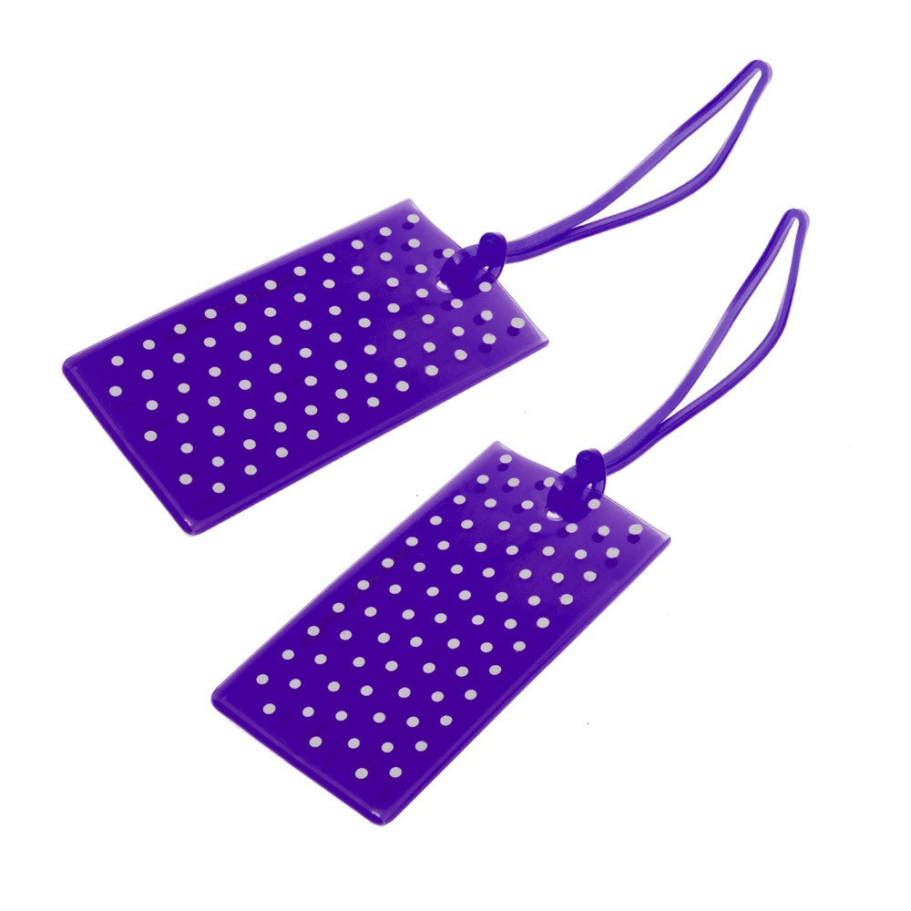 Jelly Luggage Tags Spot 2 Pk-Purple - globitetravel