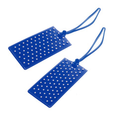 Jelly Luggage Tags Spot 2 Pk- Royal - globitetravel