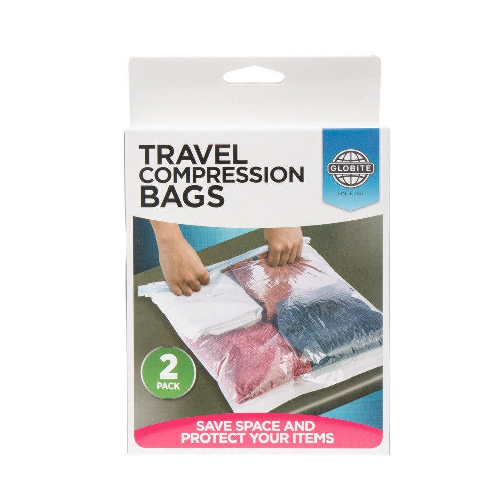 Compression Bag 2 Pack-Clear - globitetravel