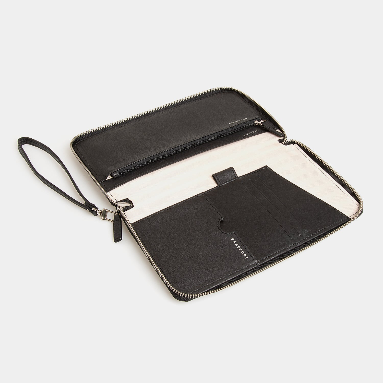 RFID Leather Portfolio Wallet - Carbon Ink - globitetravel
